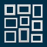 Sistema del vector de marcos Fotos de archivo