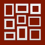 Sistema del vector de marcos Foto de archivo libre de regalías