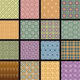Sistema del vector de modelos inconsútiles retros coloridos Foto de archivo libre de regalías
