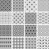 Sistema del vector de modelos inconsútiles retros monocromáticos Fotografía de archivo