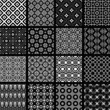 Sistema del vector de modelos inconsútiles retros monocromáticos jpg Imágenes de archivo libres de regalías