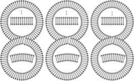 Sistema del vector de movimientos del cepillo del grunge Imagen de archivo
