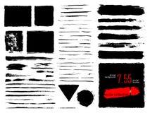 Sistema del vector de movimientos y de fondo del cepillo del grunge libre illustration