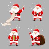 sistema del vector de Papá Noel Fotos de archivo libres de regalías