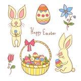 Sistema del vector de Pascua stock de ilustración
