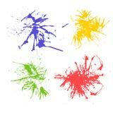 Sistema del vector de pintura abstracta de la mano del arte de la acuarela Fotografía de archivo libre de regalías