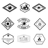 Sistema del vector de plantillas de la fotografía y del logotipo Fotografía de archivo libre de regalías