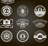 Sistema del vector de plantillas del logotipo de la fotografía foto Imágenes de archivo libres de regalías