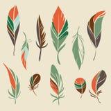Sistema del vector de plumas dibujadas mano Imagen de archivo libre de regalías