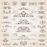 Sistema del vector de remolinos y de movimientos clásicos decorativos Conjunto de elementos medieval libre illustration