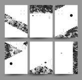 Sistema del vector de seis fondos, creado de polígonos simples y de figuras geométricas Diseño de los carteles o de las banderas  Imagen de archivo