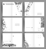 Sistema del vector de seis fondos, creado de polígonos simples y de figuras geométricas Diseño de los carteles o de las banderas  Fotografía de archivo libre de regalías
