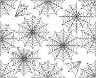 Sistema del vector de Spiderwebs lindo y espeluznante ilustración del vector