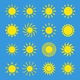 Sistema del vector de Sun Imagen de archivo
