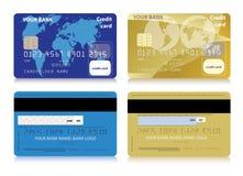 Sistema del vector de tarjetas de crédito aisladas Imagen de archivo libre de regalías