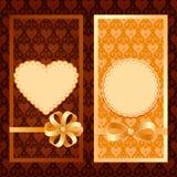 Sistema del vector de tarjetas de la invitación Foto de archivo