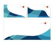 Sistema del vector de tarjetas de visita y de plantillas del sobre Foto de archivo libre de regalías