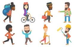 Sistema del vector de turistas y de caracteres del negocio libre illustration