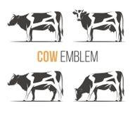 Sistema del vector de vacas manchadas elegantes de una Holstein ilustración del vector