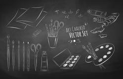 Sistema del vector del artista stock de ilustración