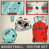 Sistema del vector del baloncesto Fotos de archivo libres de regalías