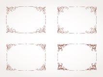 Sistema del vector del bastidor ornamental rectangular Imagen de archivo libre de regalías