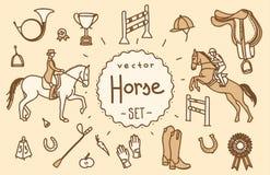 Sistema del vector del caballo Foto de archivo libre de regalías