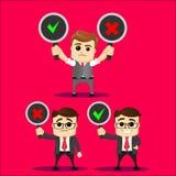 Sistema del vector del carácter del encargado o del hombre de negocios Imagenes de archivo