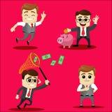Sistema del vector del carácter del encargado o del hombre de negocios Imagen de archivo libre de regalías