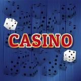 Sistema del vector del casino Imágenes de archivo libres de regalías