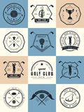 Sistema del vector del club de golf de los logotipos ilustración del vector