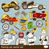 Sistema del vector del coche de competición Foto de archivo libre de regalías