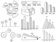 Sistema del vector del colorante del infographics Fotos de archivo libres de regalías