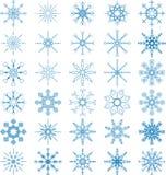 Sistema del vector del copo de nieve Imagen de archivo libre de regalías