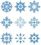 Sistema del vector del copo de nieve Foto de archivo