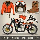 Sistema del vector del corredor del café Imagen de archivo