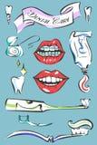 Sistema del vector del cuidado dental Imagen de archivo