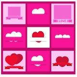 Sistema del vector del día de tarjetas del día de San Valentín Imagen de archivo