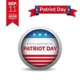 Sistema del vector del día del patriota Fotos de archivo libres de regalías