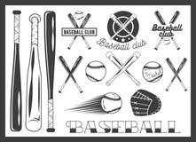 Sistema del vector del emblema del club de béisbol, etiqueta, insignias Imagen de archivo