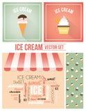 Sistema del vector del helado stock de ilustración