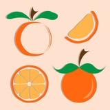 Sistema del vector del icono anaranjado Fotos de archivo libres de regalías