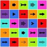 Sistema del vector del icono de la muestra de la flecha Imagen de archivo