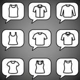 Sistema del vector del icono de las camisetas Fotografía de archivo