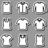 Sistema del vector del icono de las camisetas Imágenes de archivo libres de regalías