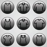 Sistema del vector del icono de las camisetas Imagen de archivo