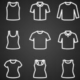 Sistema del vector del icono de las camisetas Fotos de archivo