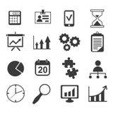 Sistema del vector del icono del márketing del analista del negocio stock de ilustración