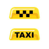 Sistema del vector del icono del servicio del taxi Fotos de archivo