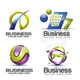 sistema del vector del logotipo 3D Imagenes de archivo
